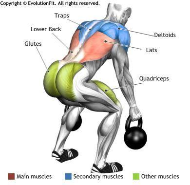 Lats Deadlift 2 Kettlebell Gym Workouts Pinterest