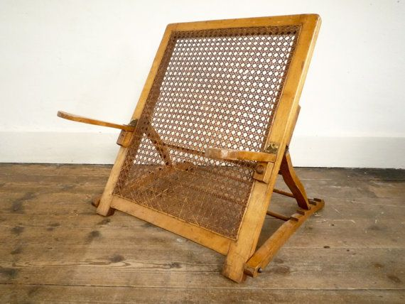 Ordinaire Antique Beach Chair   Edwardian Victorian Cane Back Rest Via Etsy