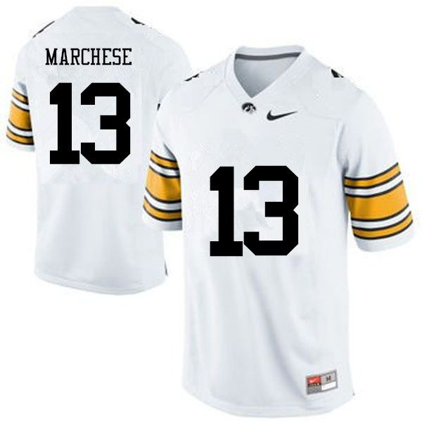 Men Iowa Hawkeyes  13 Henry Marchese College Football Jerseys-White ... 120141021