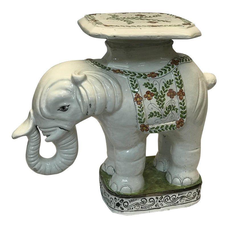 Vintage Elephant Garden Stool Vintage Elephant Ceramic 400 x 300