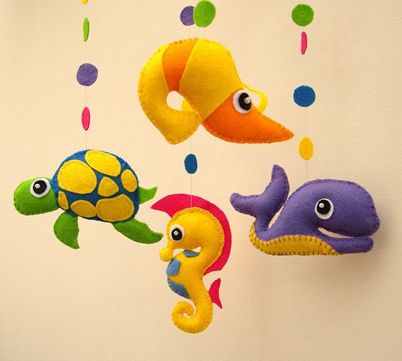 Sea Life Mobile  Babys Mobile  READY TO SHIP by FlossyTots on Etsy, £44.99