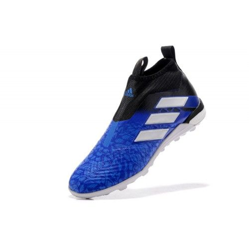 sports shoes 86c33 88235 Barato Adidas ACE Tango 17 Purecontrol TF Azul Negro Blanco Zapatos De  Soccer