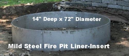 Steel Fire Pit Liner Metal Insert Fire Pit Liner Metal Fire Pit Steel Fire Pit