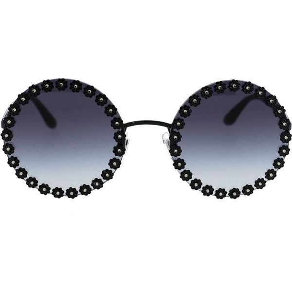 Dolce Gabbana Daisy Round Sunglasses 2 075 Brl Liked On