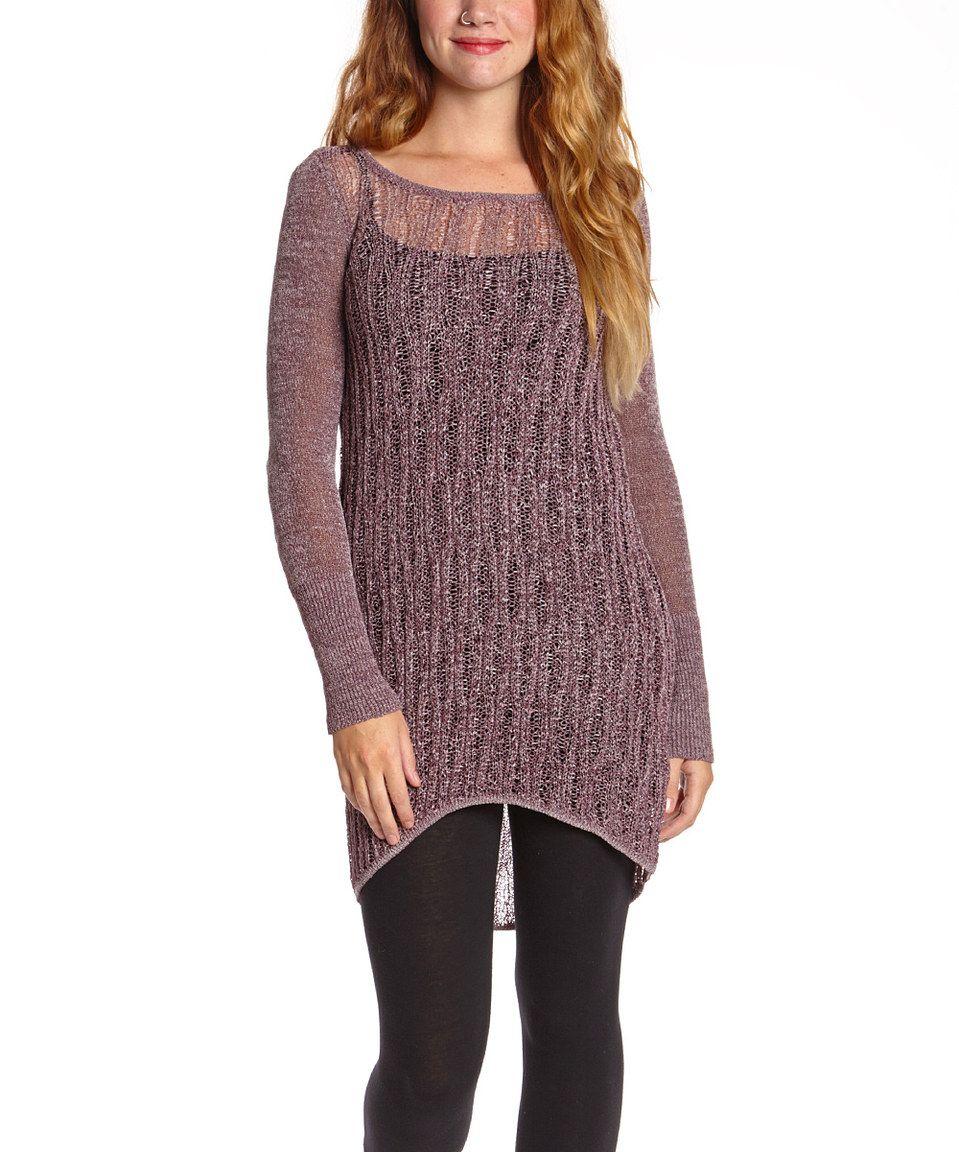 Dusty Purple Hi-Low Sweater by #zulilyfinds