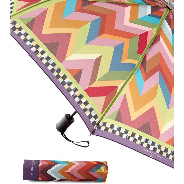 MacKenzie-Childs Kaleidoscope Travel Umbrella (705 ZAR) ❤ liked on Polyvore featuring accessories, umbrellas, multi colors, colorful umbrellas, travel umbrellas and mackenzie-childs