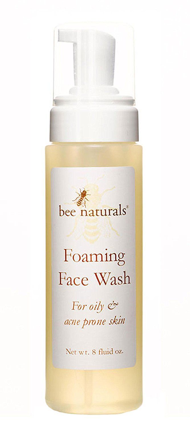 Bee naturals self foaming face wash clean facial skin thoroughly