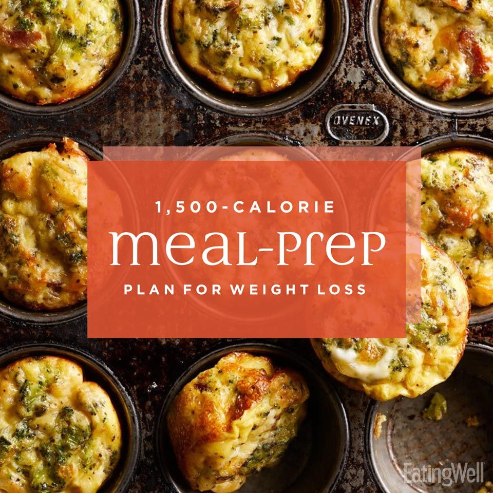 Easy 1,500-Calorie Meal-Prep Plan for Weight Loss #mealprepplans