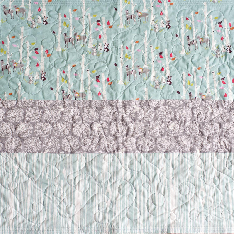 Organic baby quilt Modern Baby quilt Woodland von RedThreadGifts, $128,00