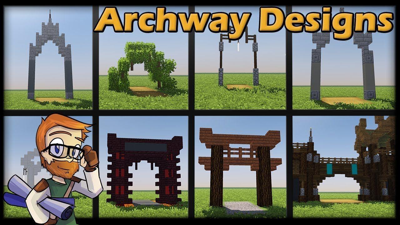 Minecraft 1 12 8 Archway Concept Designs World Download Minecraft Construction Minecraft Projects Minecraft Creations