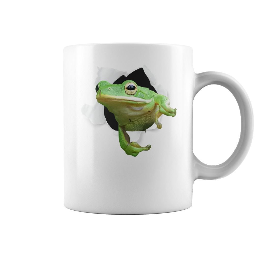 Cute Animal Pet Frog Tshirt Coffee Mug White Big Face ...