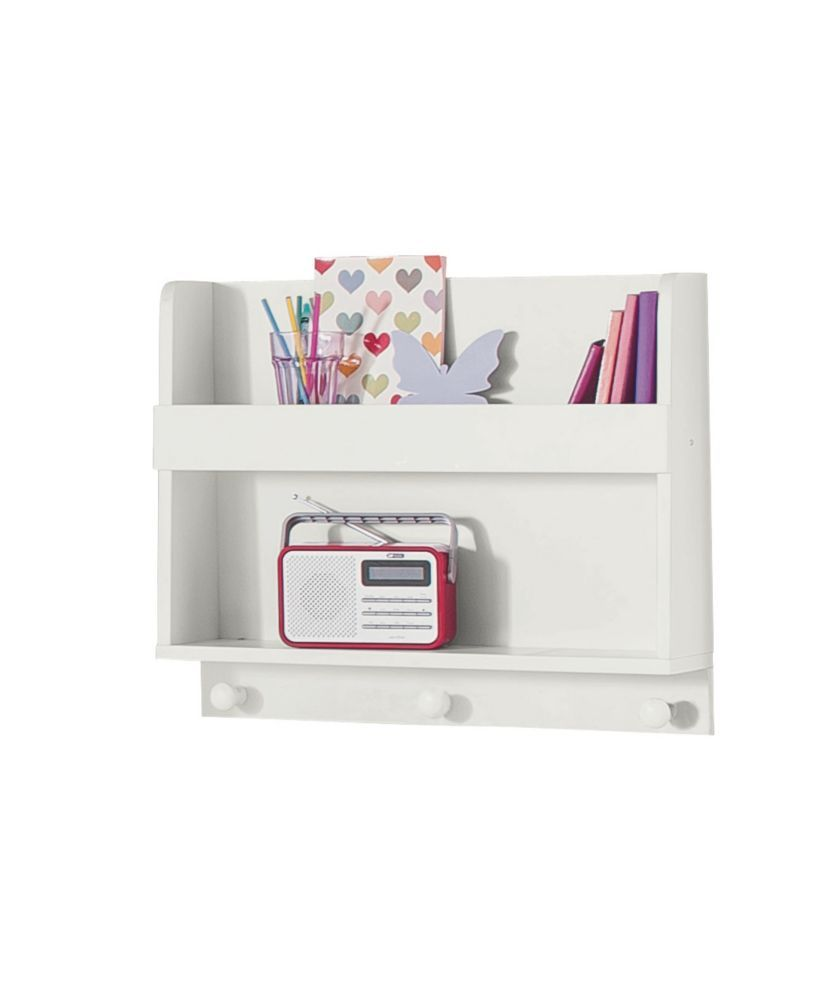Buy Kids Scandinavia Shelving Display Unit With Hooks White At