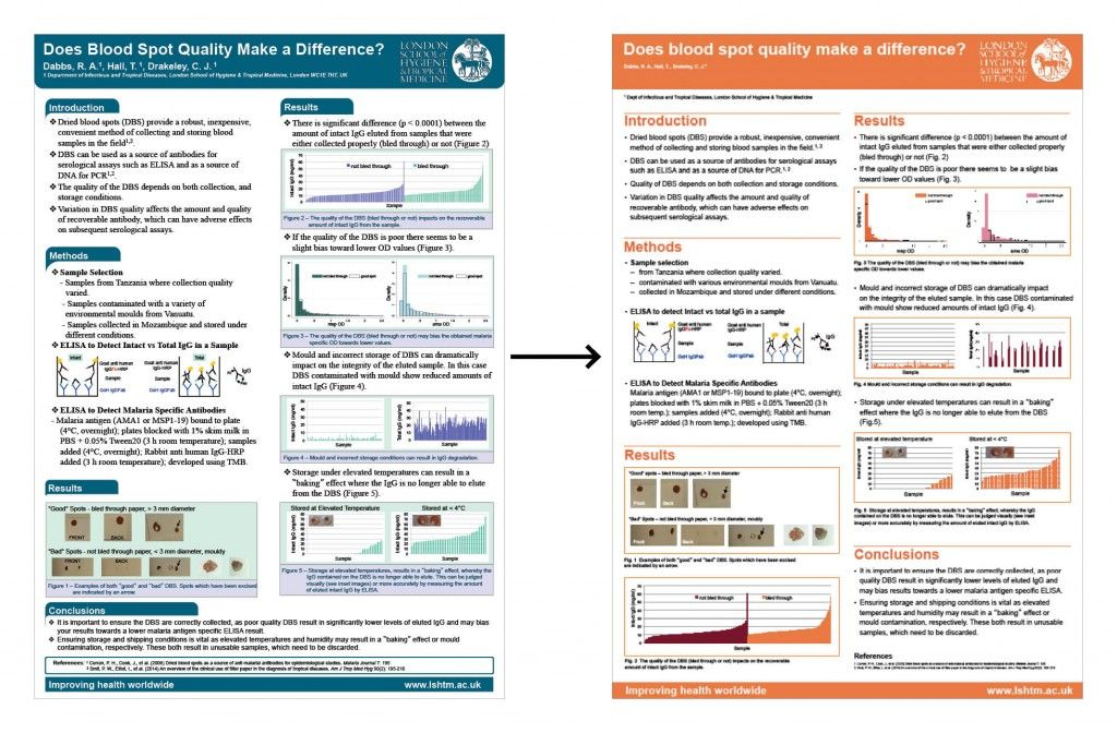 posters previously designed by researchers were redesigned