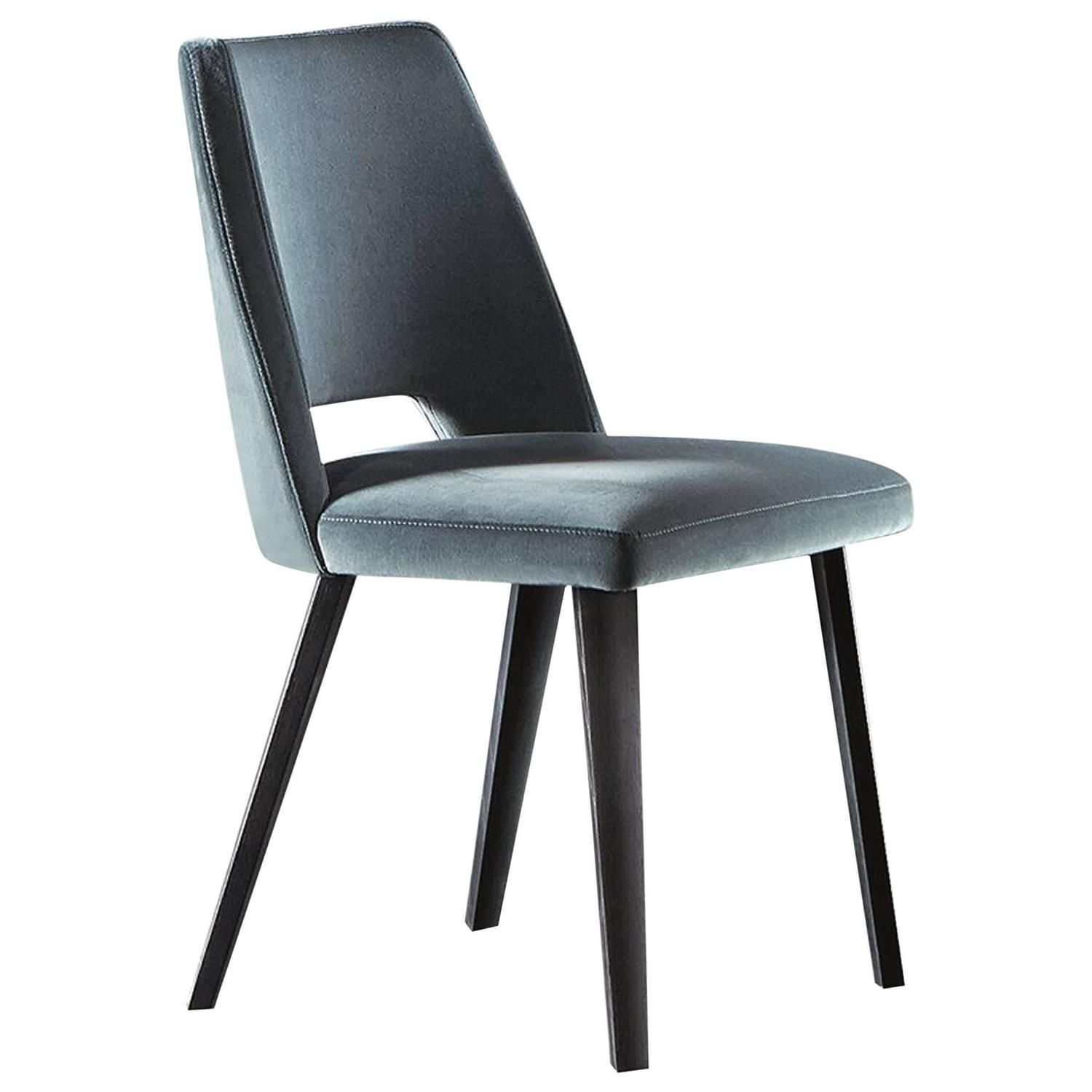 Thea Dining Chair With Upholstered Seat And Backrest And Wooden