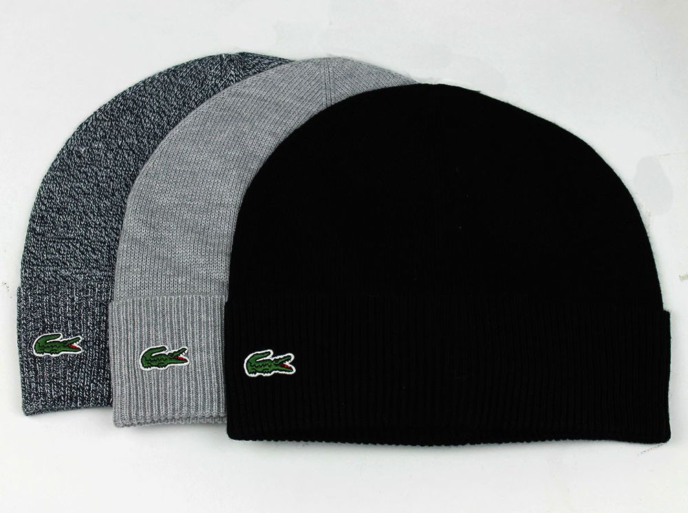 3dd998c0 Details about Lacoste Men's Classic Wool-Blend Fold-up Beanie RB5506 ...