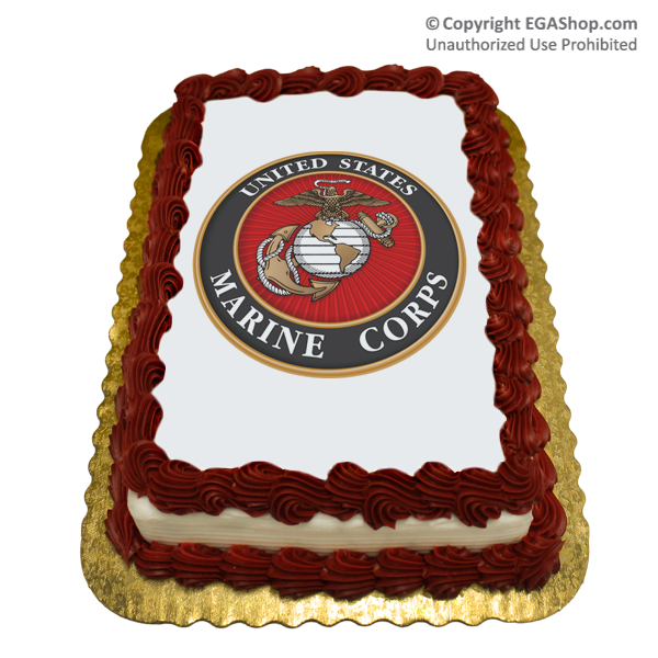 Cake Topper Marine Corps Seal At The Ega Shop Made In The Usa