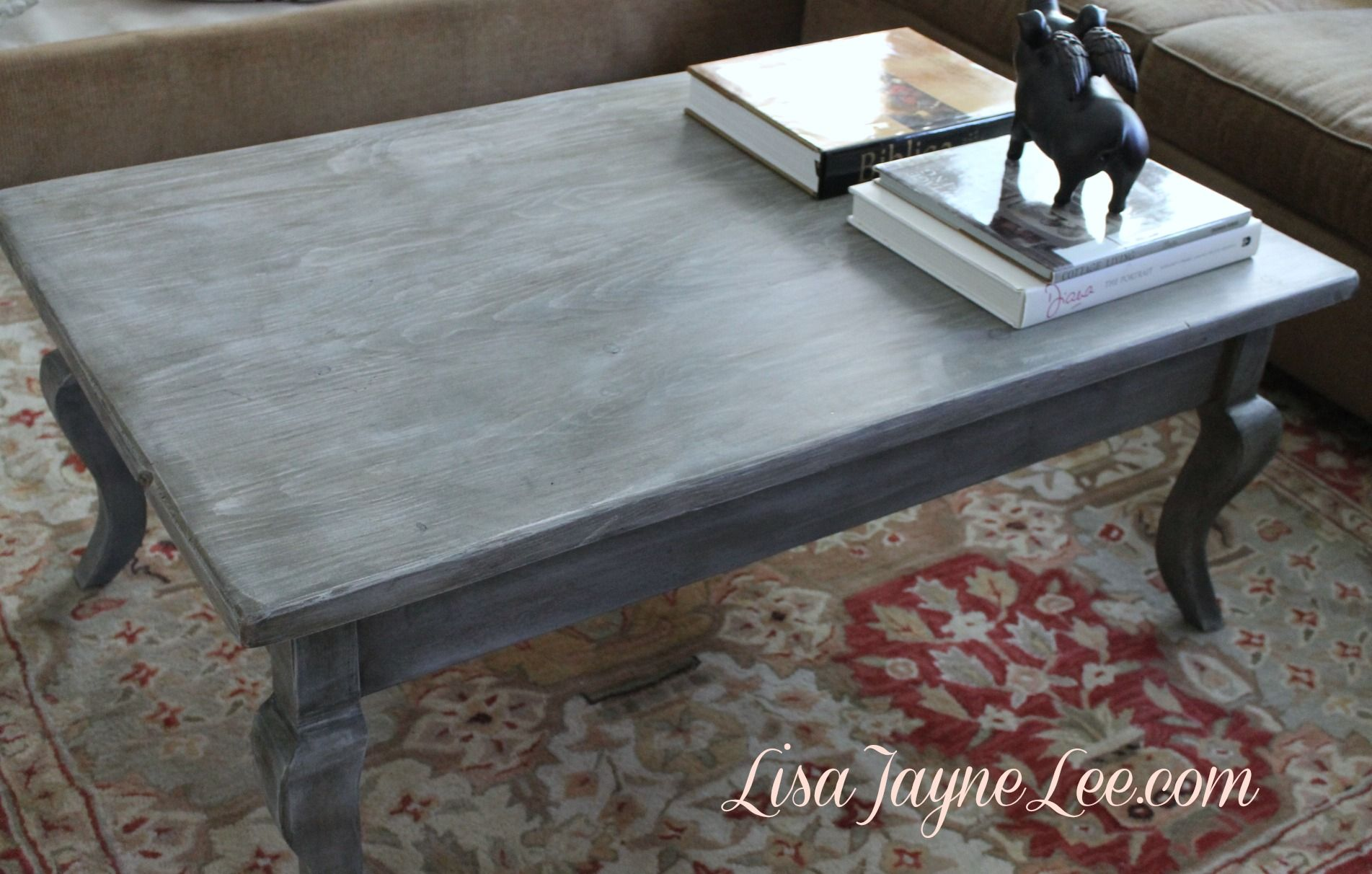 Gray Wood Stain Lisa Jayne Lee Distressed Wood Coffee Table