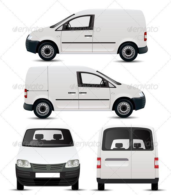 White Commercial Vehicle Mockup Commercial Vehicle Van Mini Van