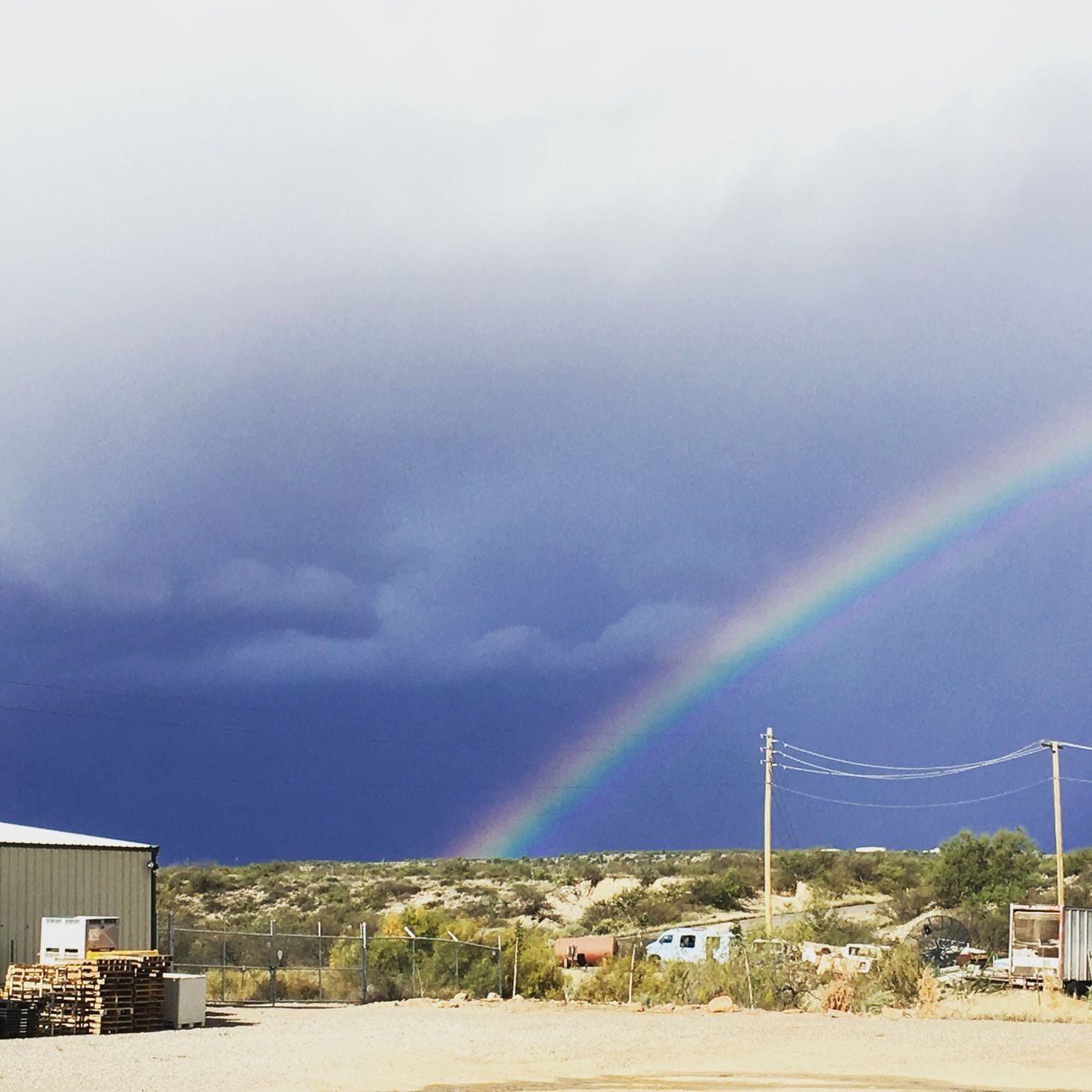 Rainbow at the winery.