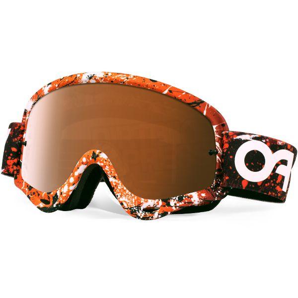 Oakley O Frame Goggles - Splatter Blood Orange Black Iridium ...
