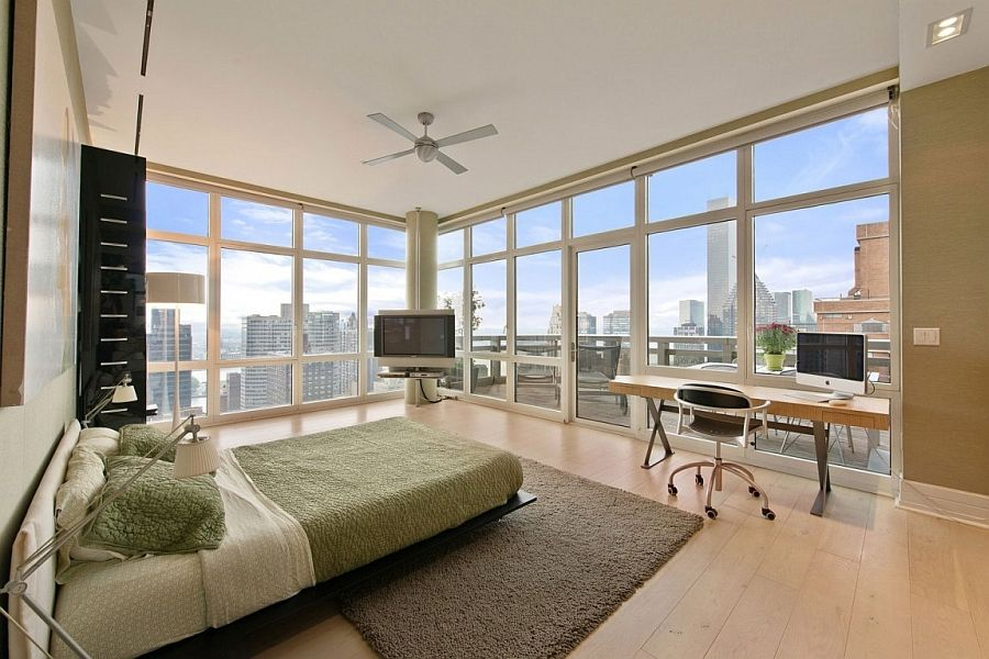 New York City Penthouse Bedroom With Amazing Views 900x600 Pixels