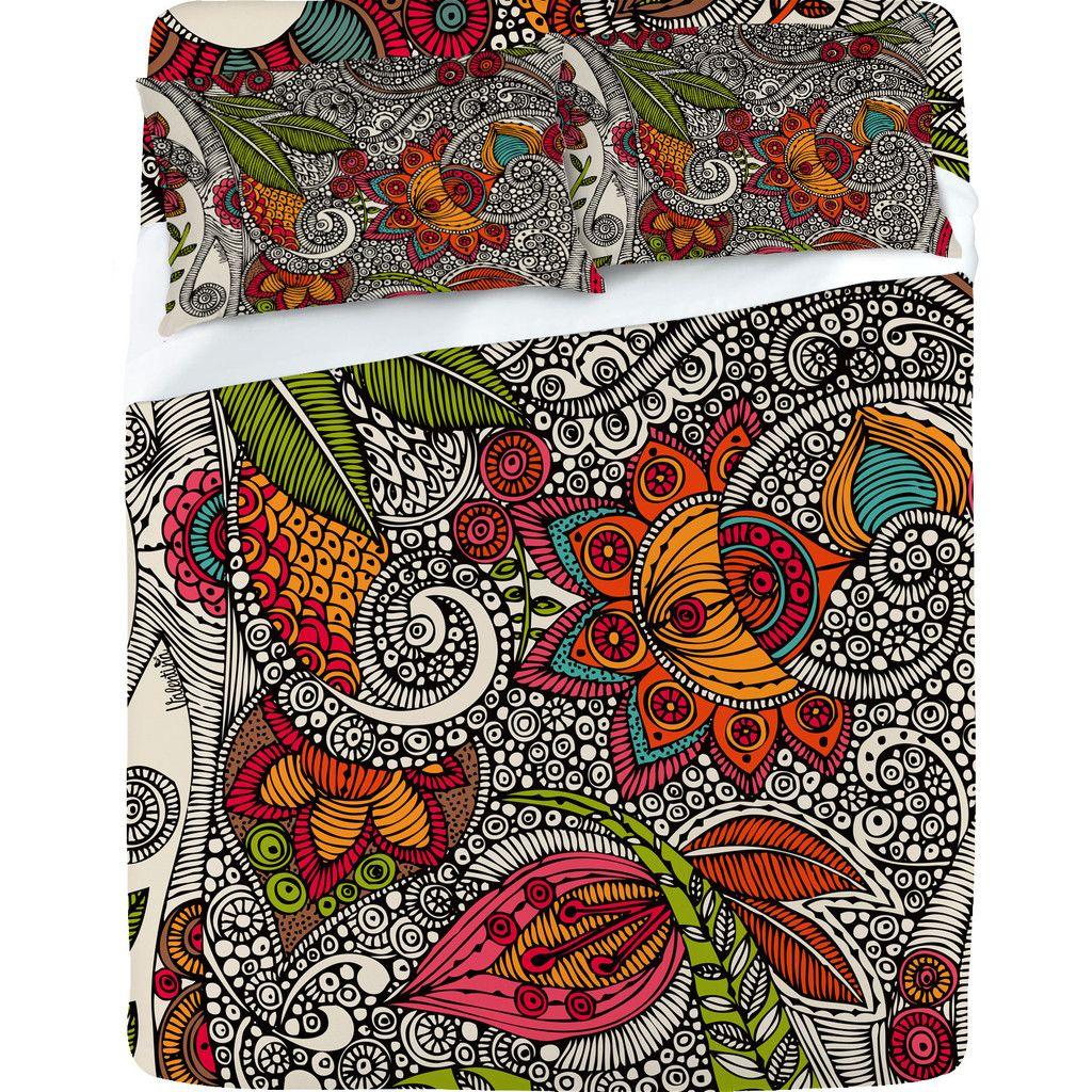 Valentina Ramos Random Flowers Sheet Set DENY Designs