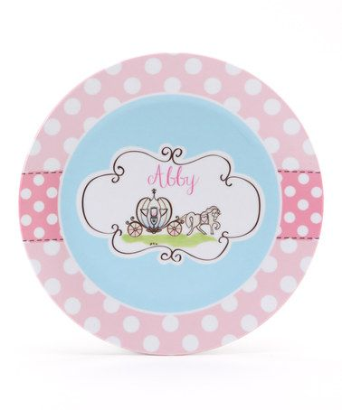 Take a look at this Pink Fairy Tale Personalized Plate by Farmhousefive Art for Kids on #zulily today!