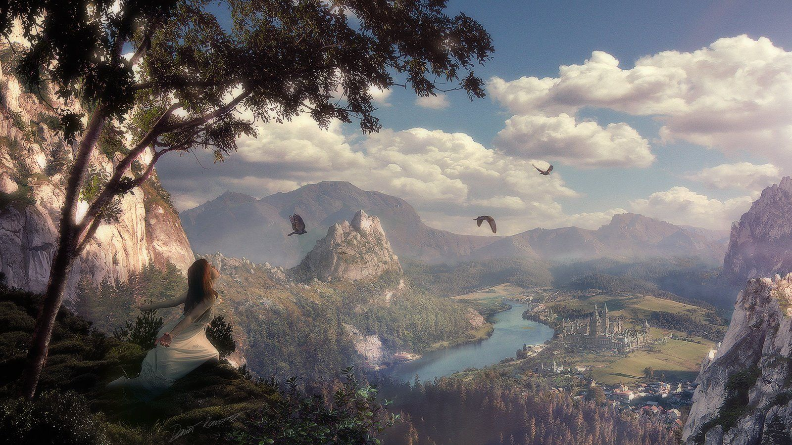 fantasy landscape backgrounds free wallpapers Deep Perception