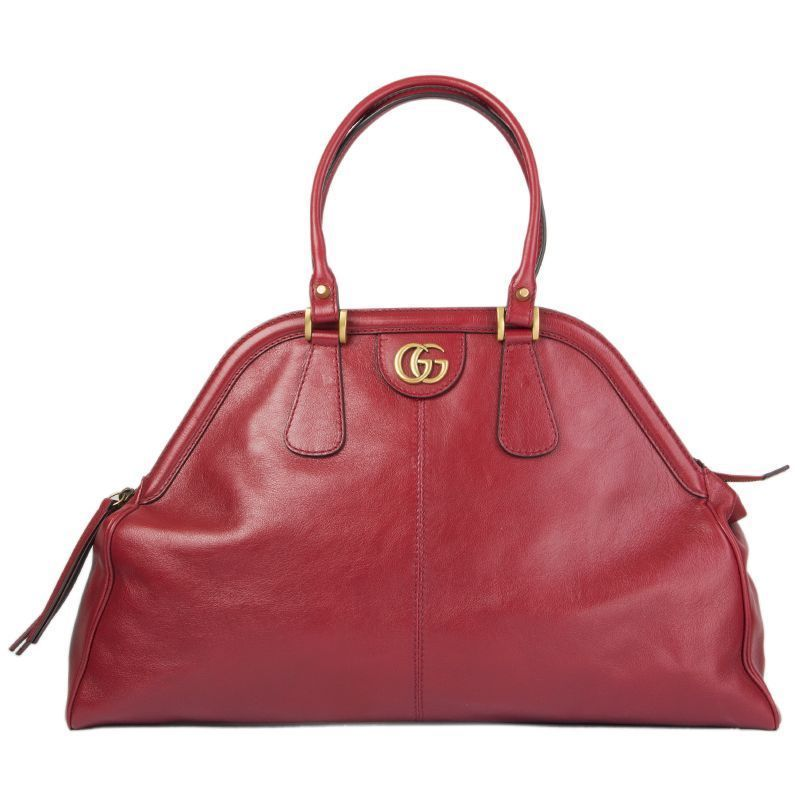 70aa121acbdb 55208 auth GUCCI red leather RE(BELLE) LARGE TOP HANDLE Shoulder Bag   fashion  clothing  shoes  accessories  womensbagshandbags  ad (ebay link)