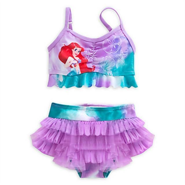 DISNEY So Cute Anna /& Elsa FROZEN Pink Swimming Costume NWT