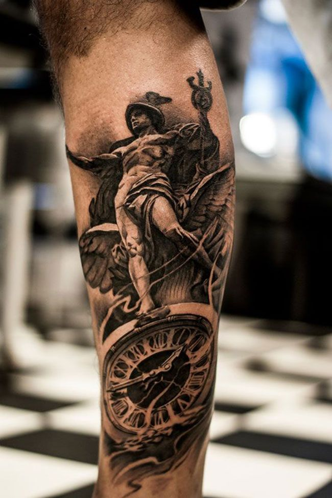 42e531b73 3d Leg Tattoo Designs For Men 15 unique statue tattoo images ...  #tattoosformenunique