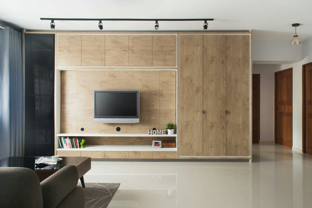 Tv Feature Wall With Full Height Built In Carpentry Qanvast