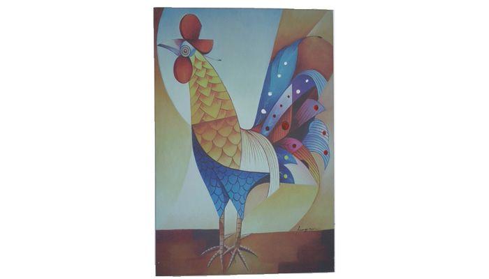Tela para parede Galo. Medidas: 100 x 148 cm Ref.:03. http://www.moradamoveis.com/