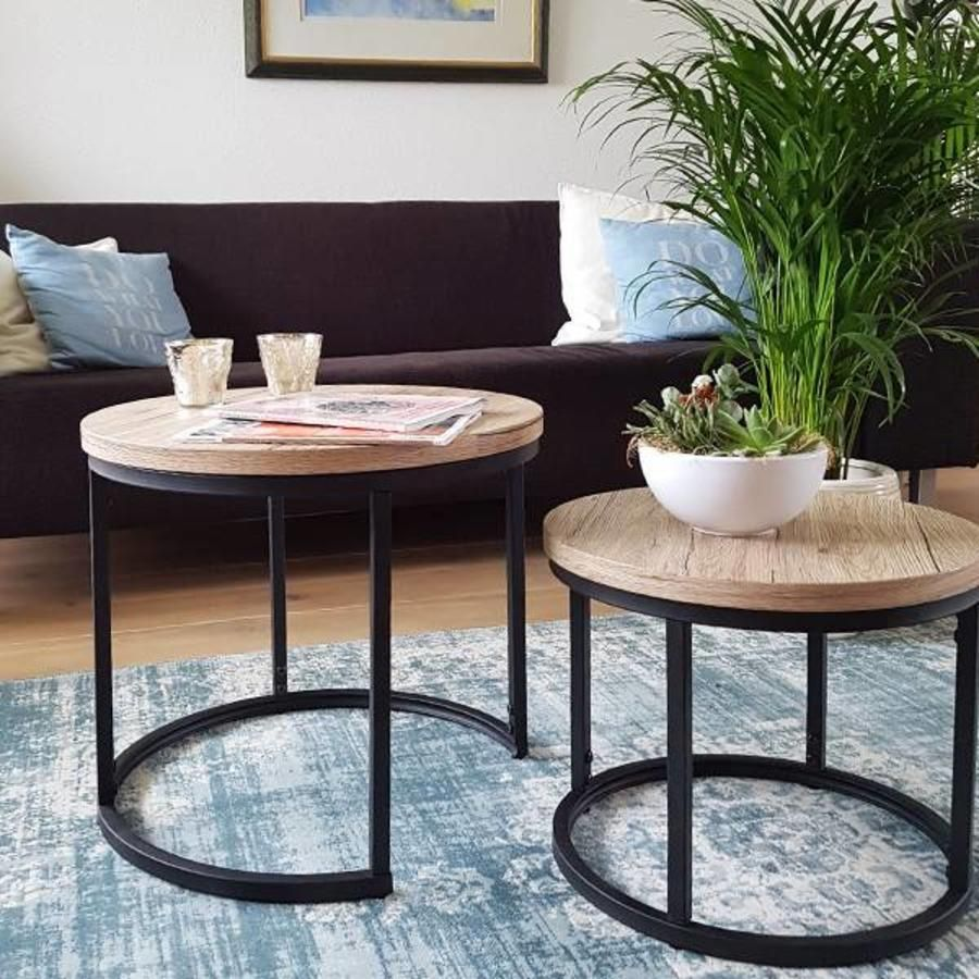 Rondos Tables Set Of 2 Industrial Design Coffee Table Modern Furniture Living Room Table [ 900 x 900 Pixel ]