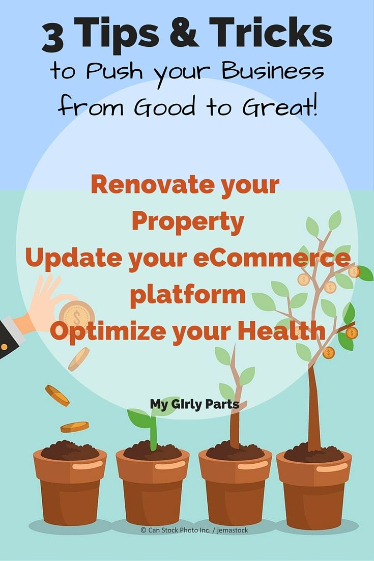 Check out these 3 tips and tricks to push your biz from good to great! #homebased #business #startuptips