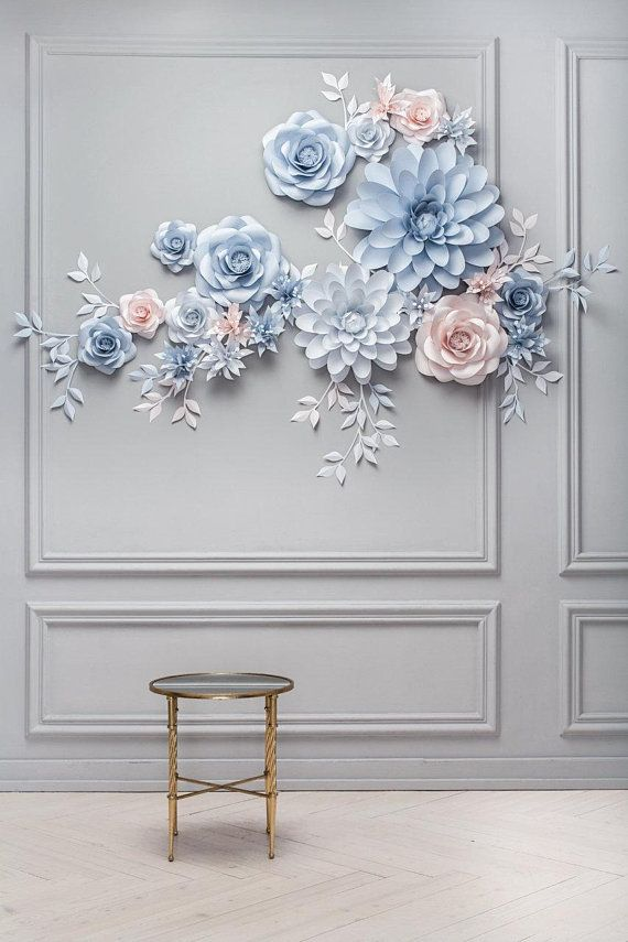 Wedding Paper Flower Backdrop Alternative Paper Flower Arch