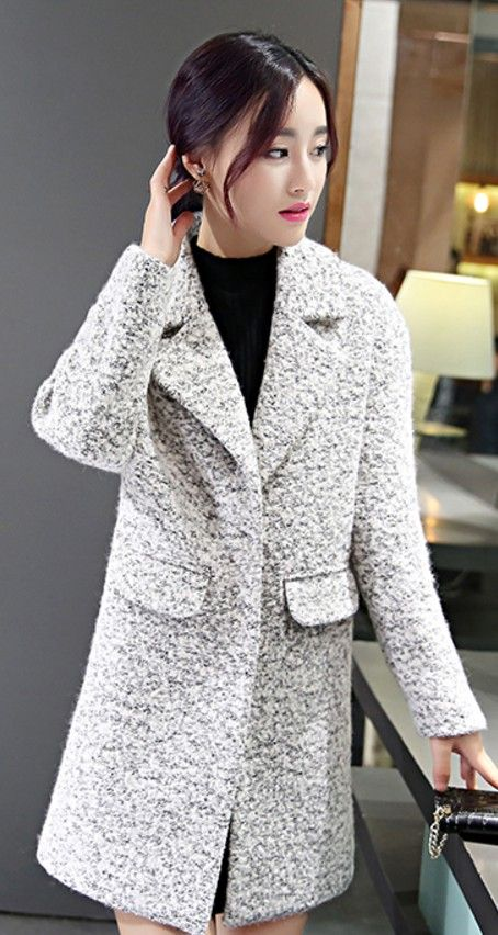 Classic winter wool coat, womens winter coats, purple wool coat ...