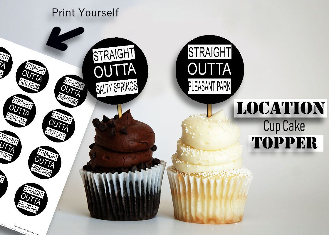 Fortnite Cupcake Fortnite Location Video Game Birthday