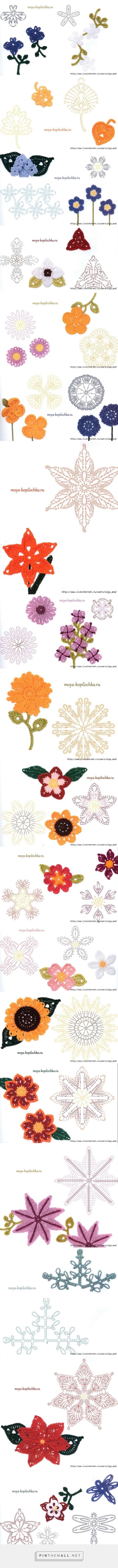 Pin de marlies en handarbeit | Pinterest | Ganchillo, Flores y ...