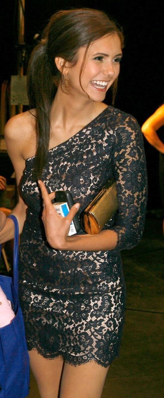 her dress, and her. love nina dobrev