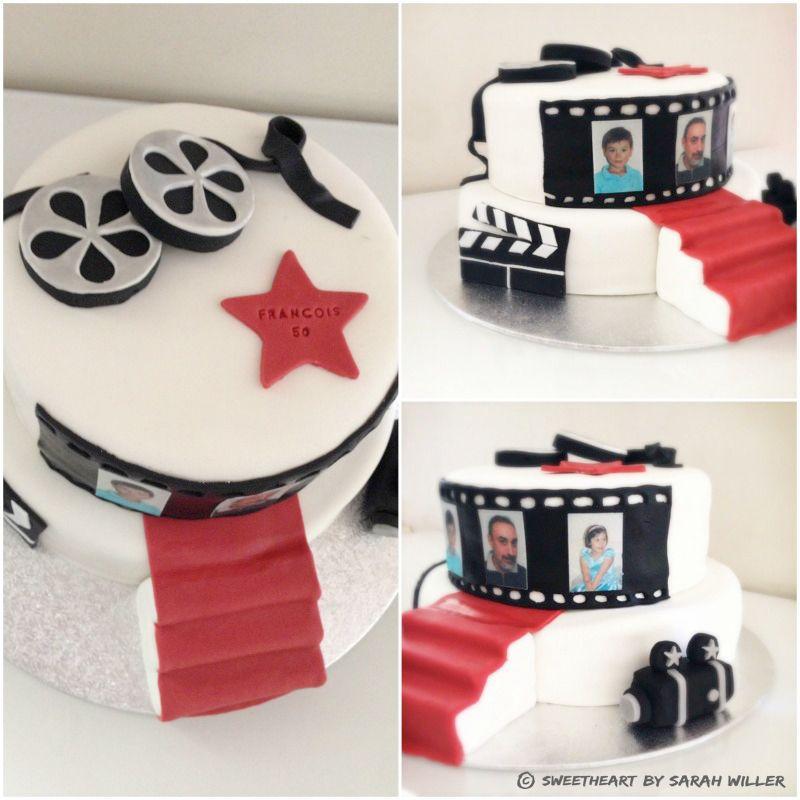 cinema cake gâteau d'anniversaire thème cinéma | sweetheart