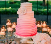 Inspiring picture cake, decor, flowers, ombre, pink. Resolution: 645x881 px. Find the picture to your taste!