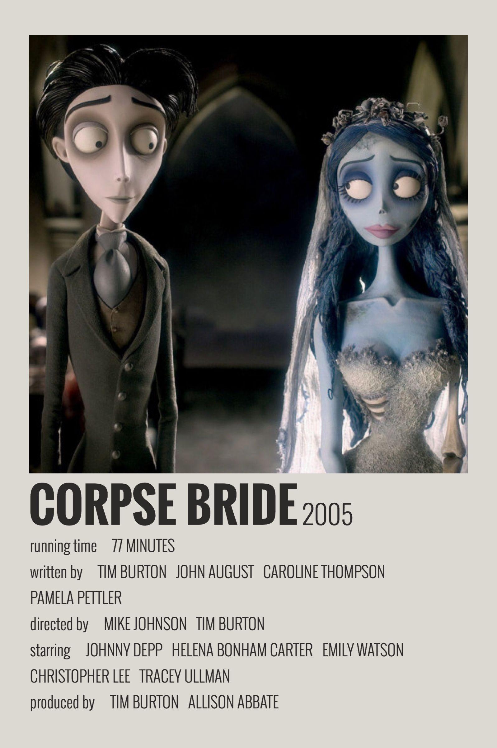Alternative Minimalist Movie/Show Polaroid Poster - Corpse Bride