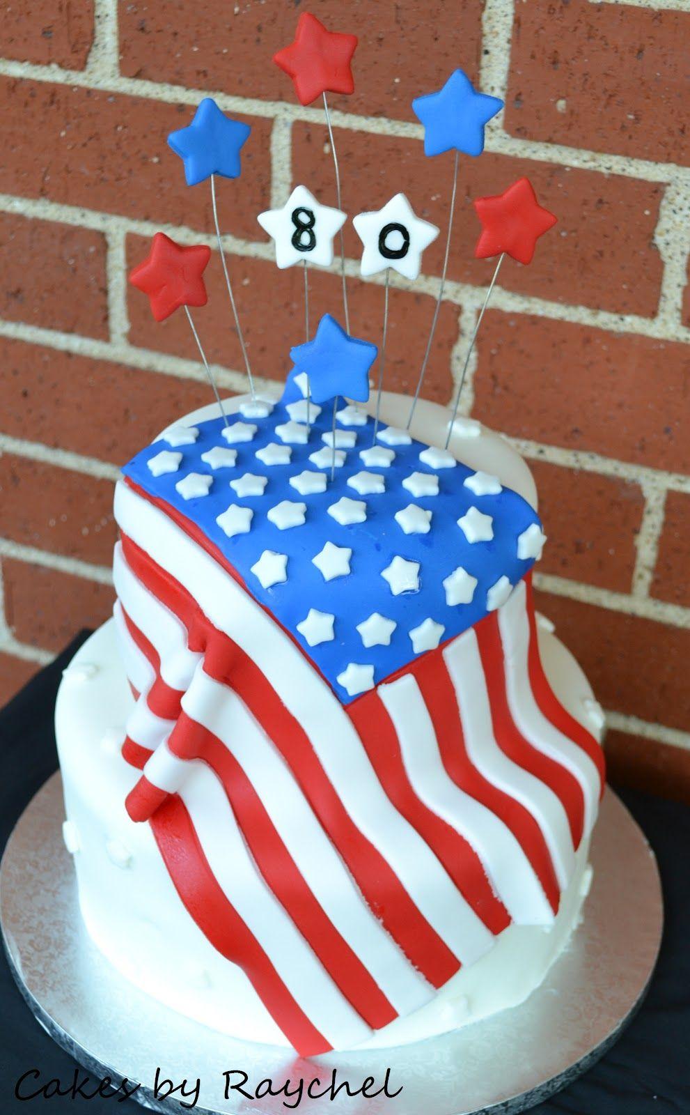 America Flag Fondant Cake Cake Flag Cake Fondant Cake