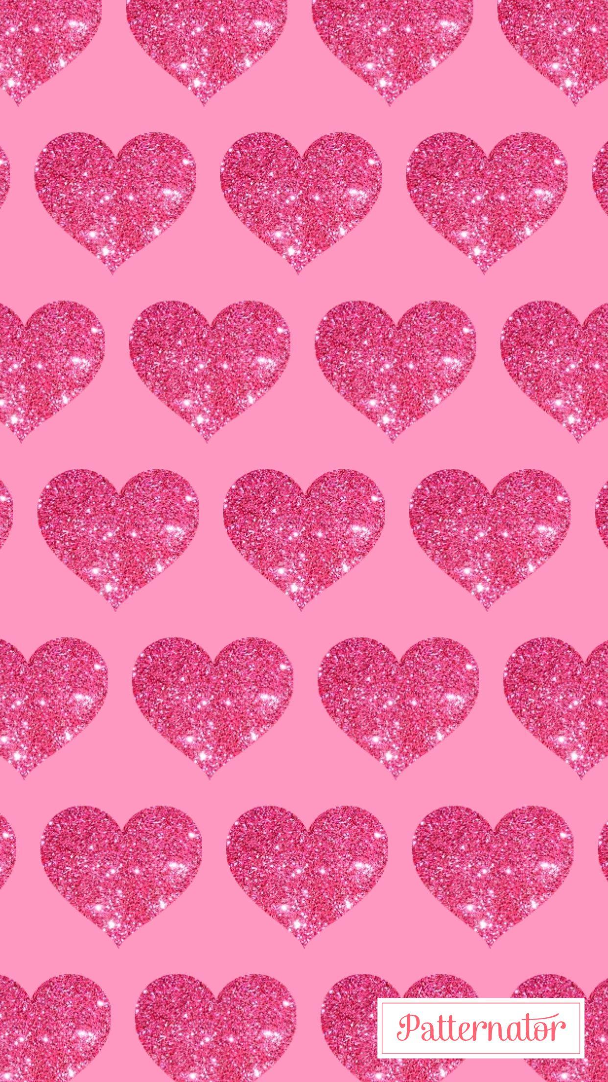 Pink Heart Glitter Wallpaper Iphone Pink Wallpaper Iphone