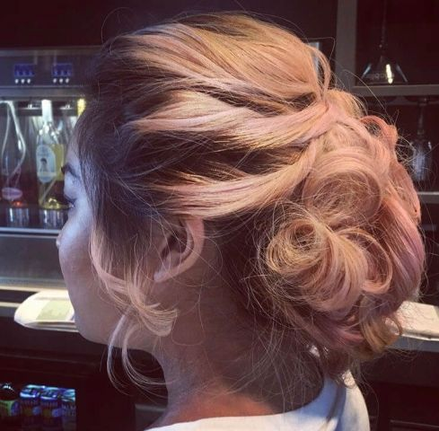Loose Updo With Soft Curls Signature Look For A Wedding Or