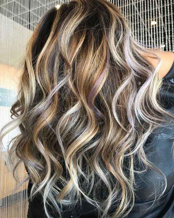 Haare blonde highlights braune 50 Stilvolle