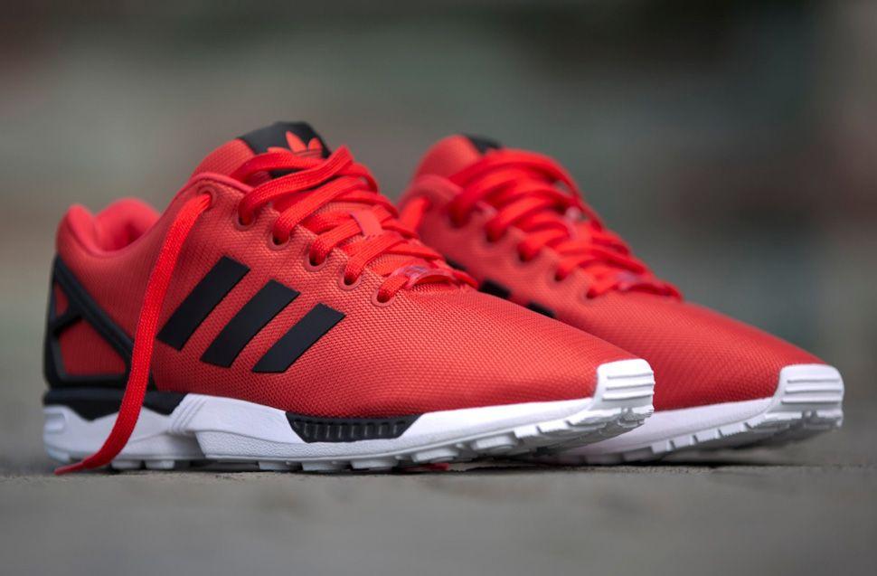 Adidas Zx Flux Poppy Red Turnschuhe Rote Turnschuhe Adidas Schuhe