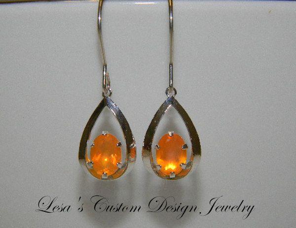 Fire Opal & Silver