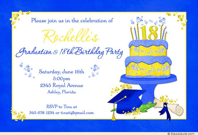 Graduation Birthday Party Invitations Google Search Devon S